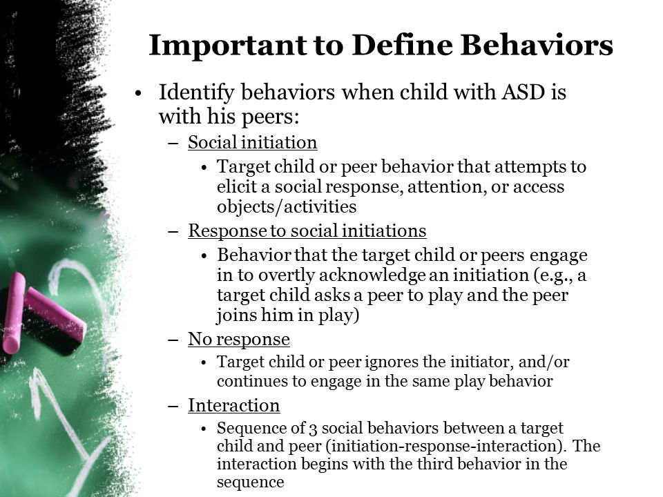 Important to Define Behaviors