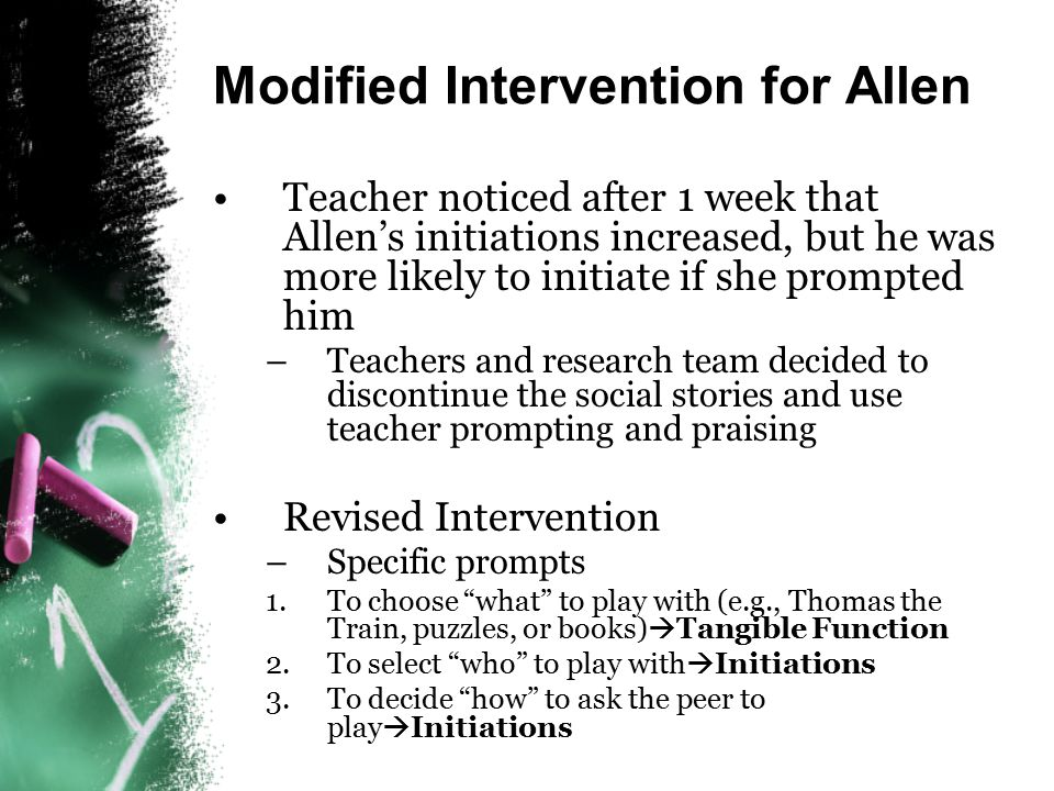 Modified Intervention for Allen