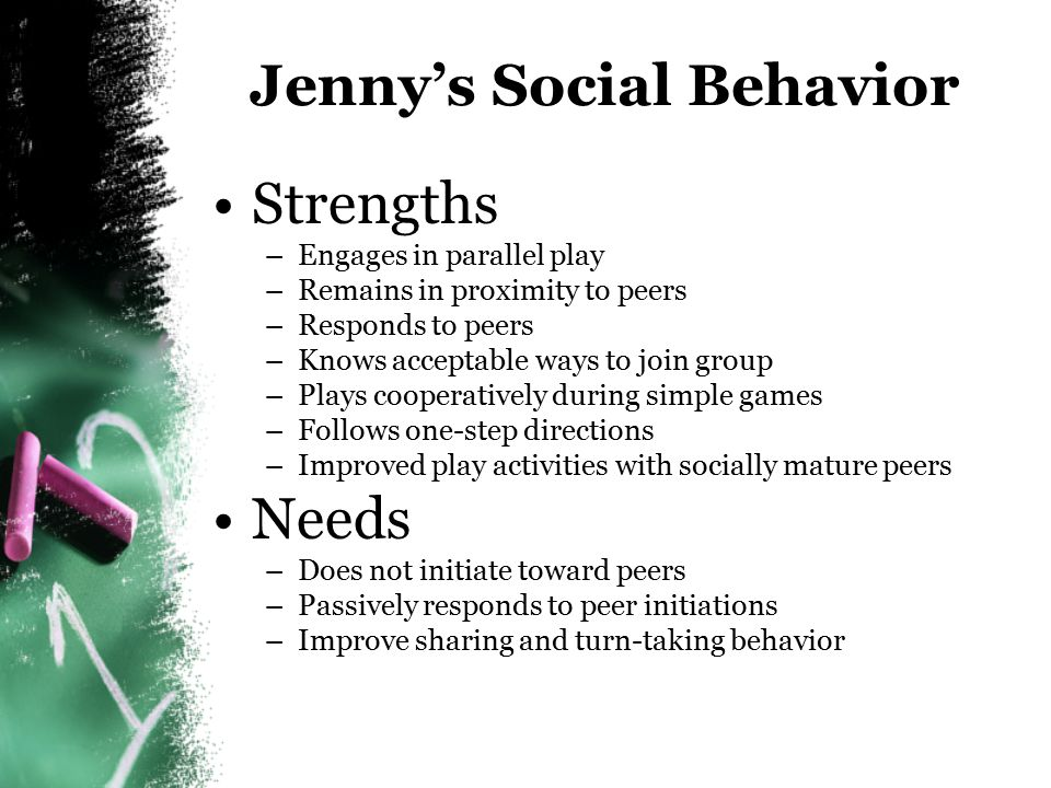 Jenny's Social Behavior