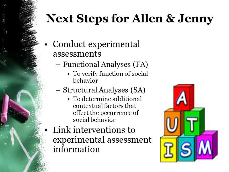 Next Steps for Allen & Jenny