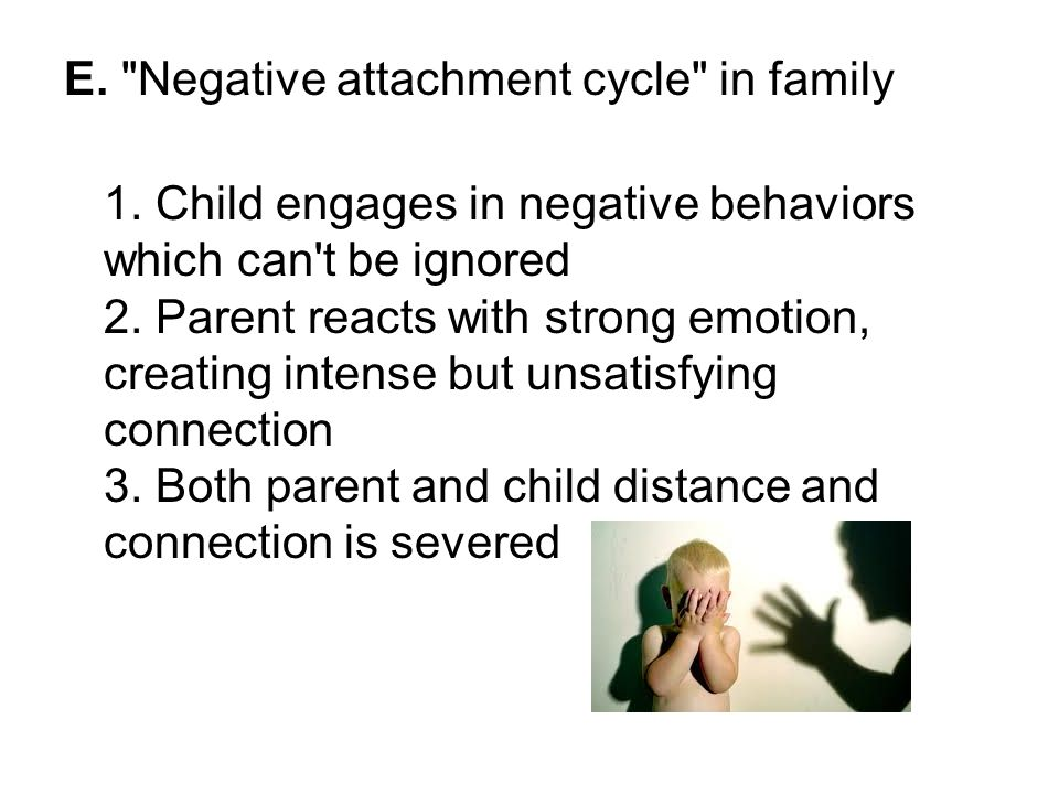 E. Negative attachment cycle in family