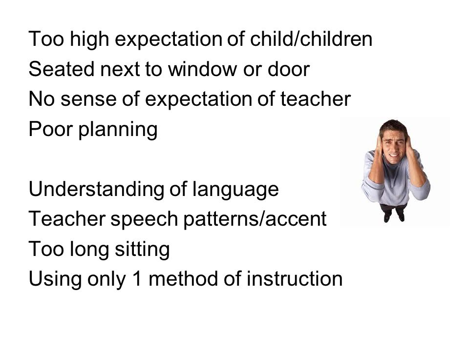 Too high expectation of child/children