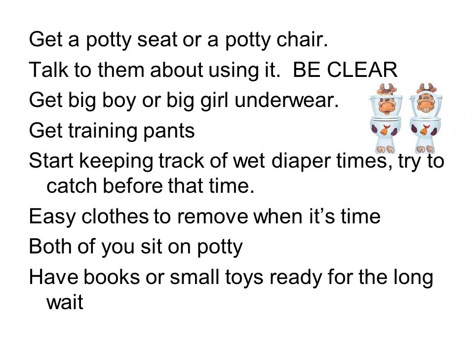 Get a potty seat or a potty chair.