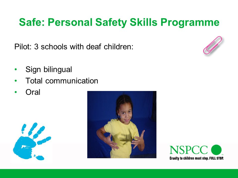 Safe: Personal Safety Skills Programme