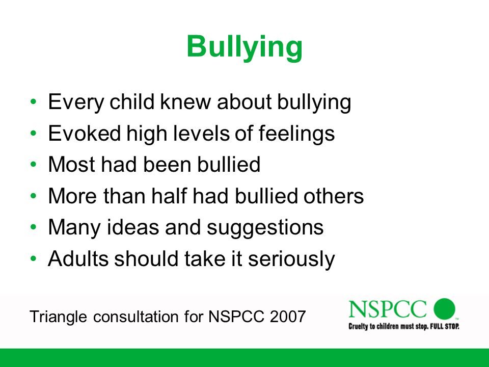 Bullying Every child knew about bullying