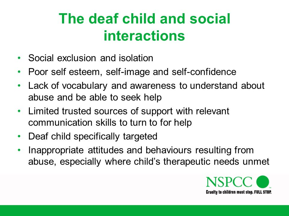 The deaf child and social interactions
