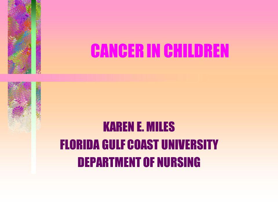 KAREN E. MILES FLORIDA GULF COAST UNIVERSITY DEPARTMENT OF NURSING