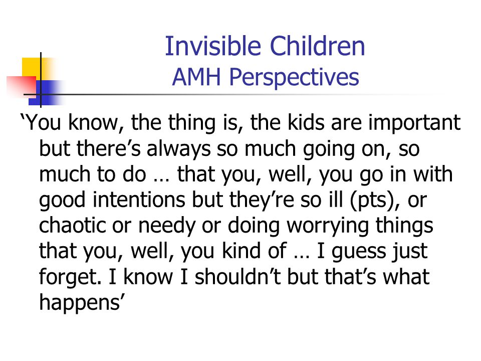 Invisible Children AMH Perspectives