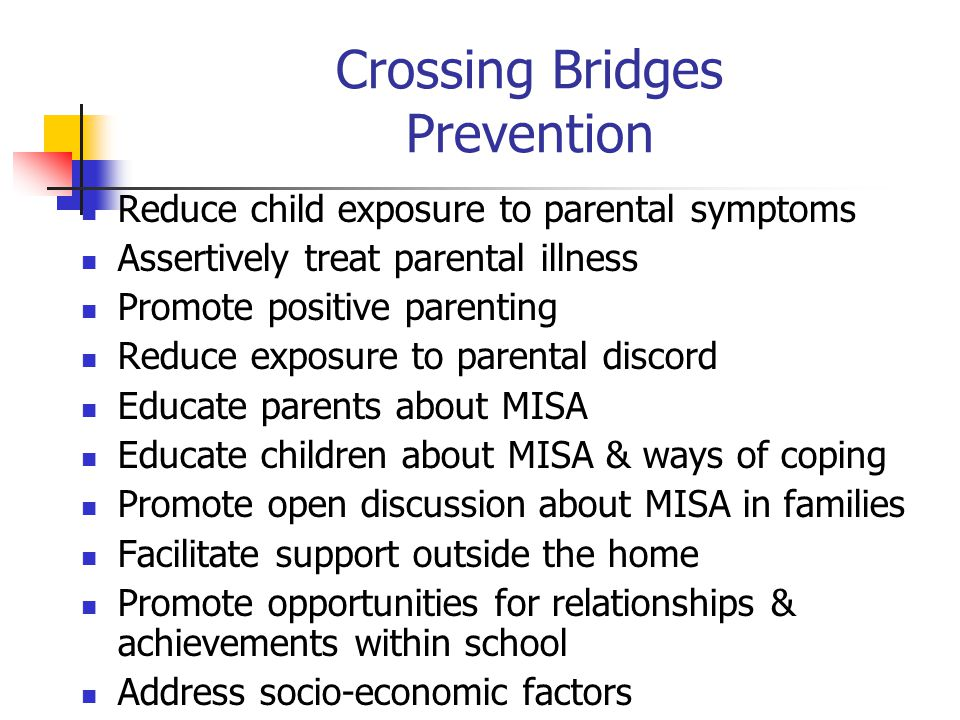 Crossing Bridges Prevention