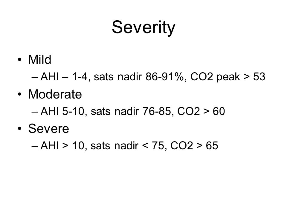 Severity Mild Moderate Severe