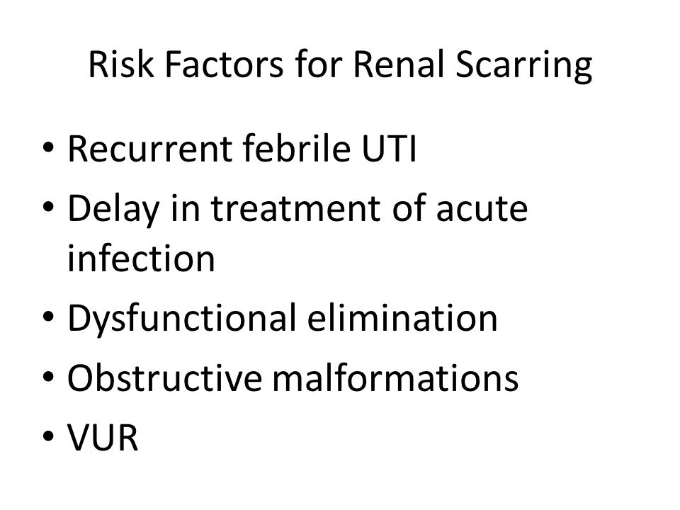 Risk Factors for Renal Scarring