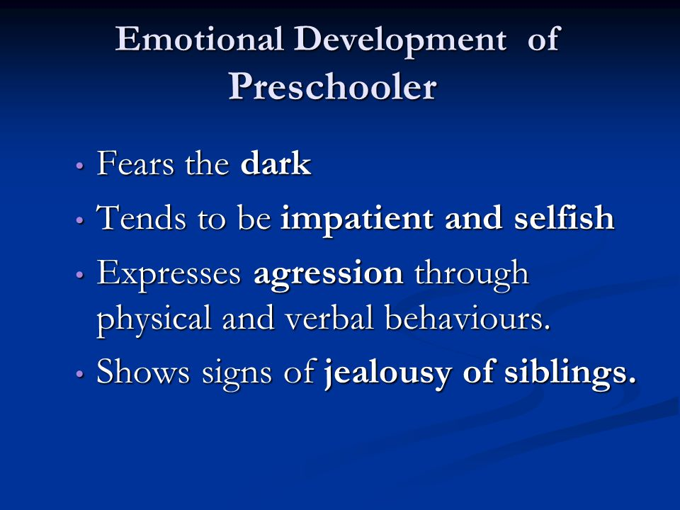 Emotional Development of Preschooler