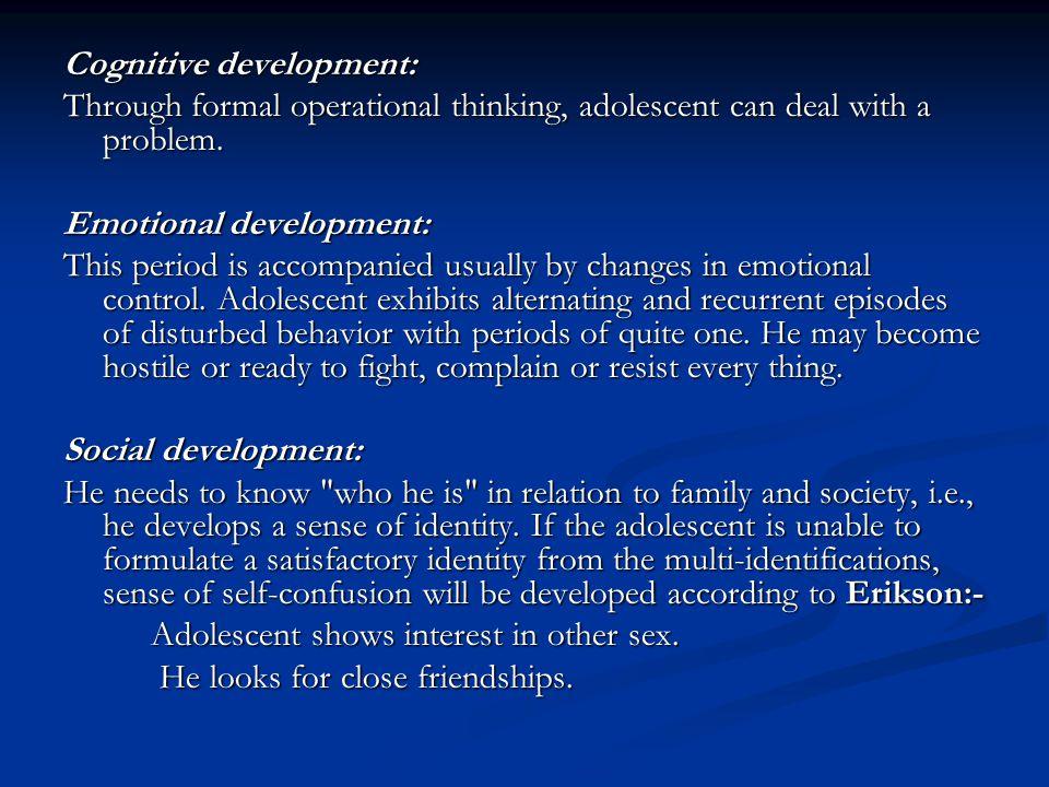 Cognitive development: