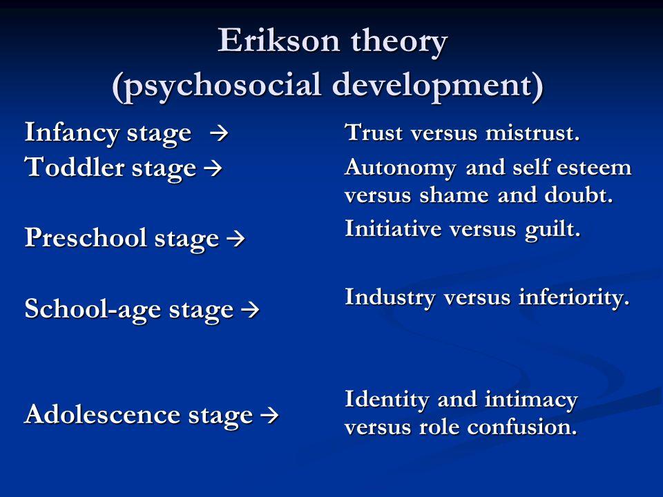Erikson theory (psychosocial development)