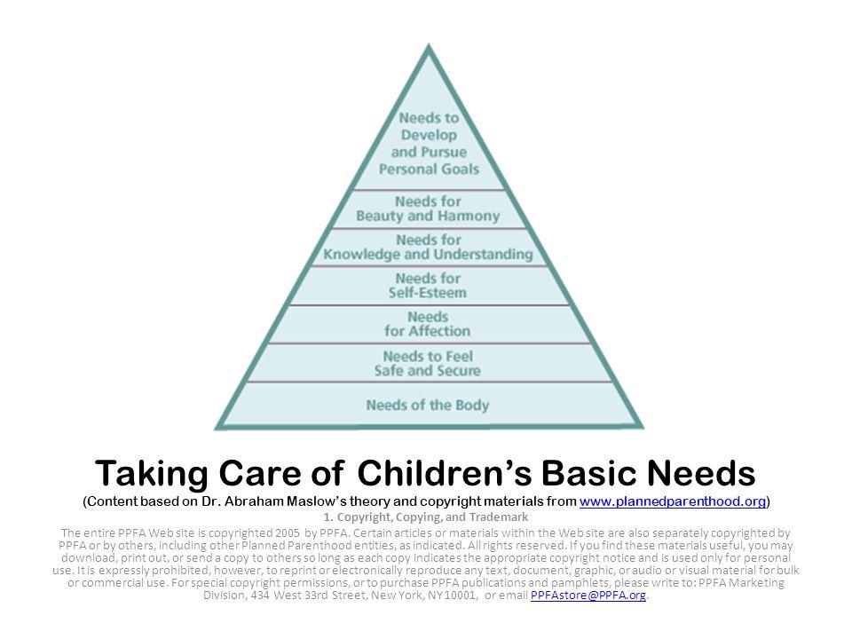 Taking Care of Children's Basic Needs