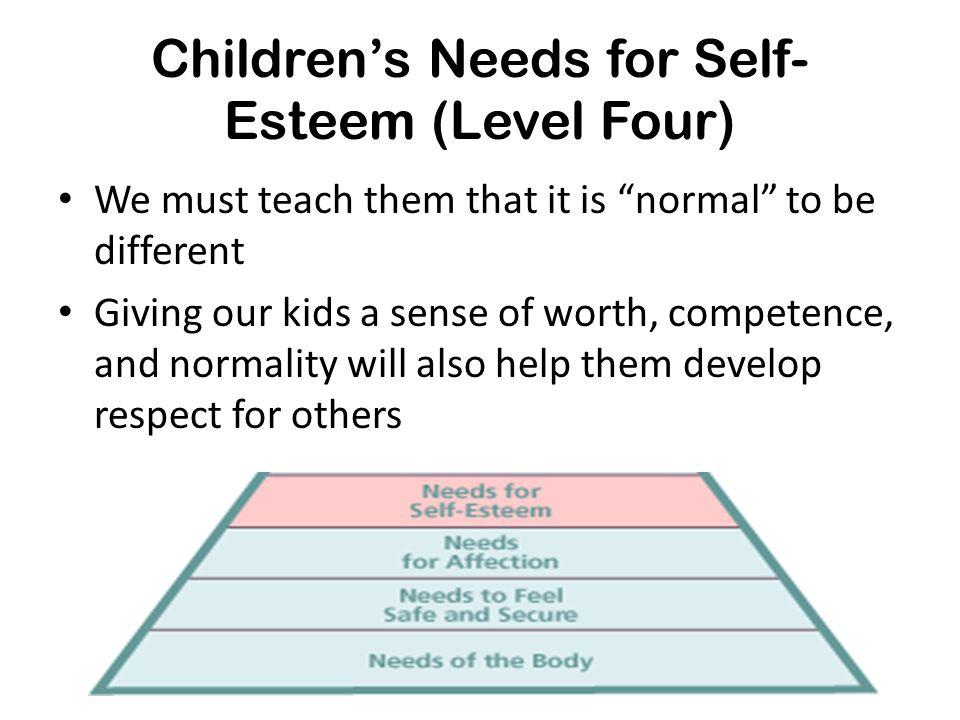 Children's Needs for Self-Esteem (Level Four)