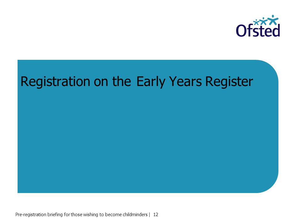 Registration on the Early Years Register