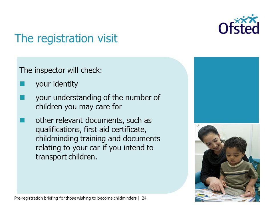 The registration visit