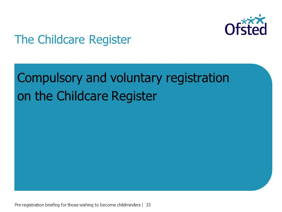 The Childcare Register