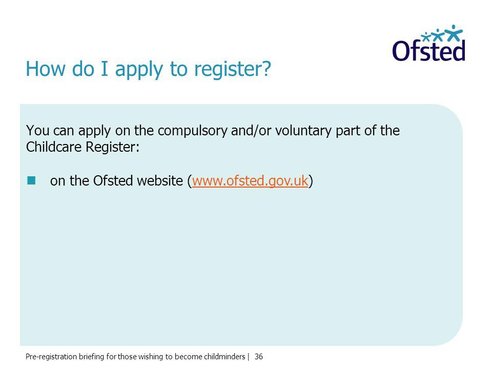 How do I apply to register