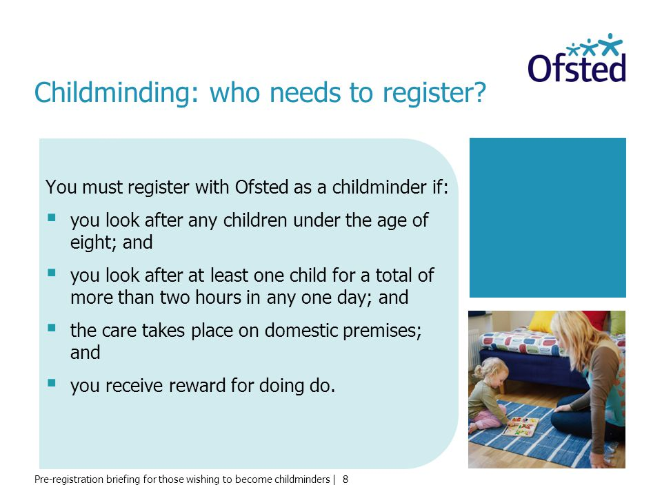 Childminding: who needs to register