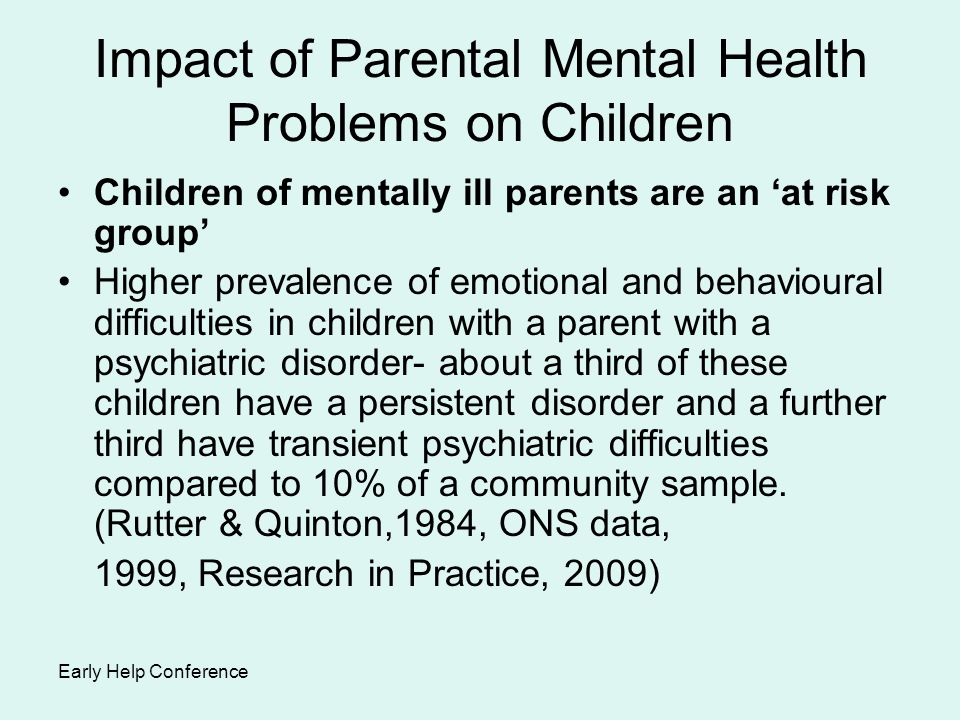 effects of parental status on children It is important for the overall development of children that parents be present   here we will explore the ways parents can impact the emotional.