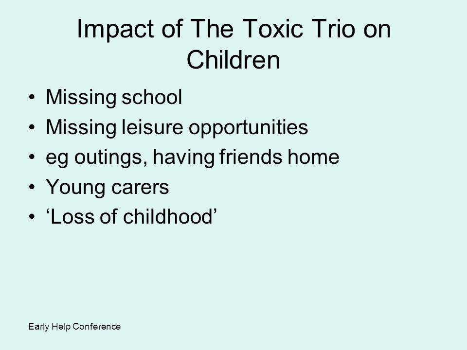 Impact of The Toxic Trio on Children