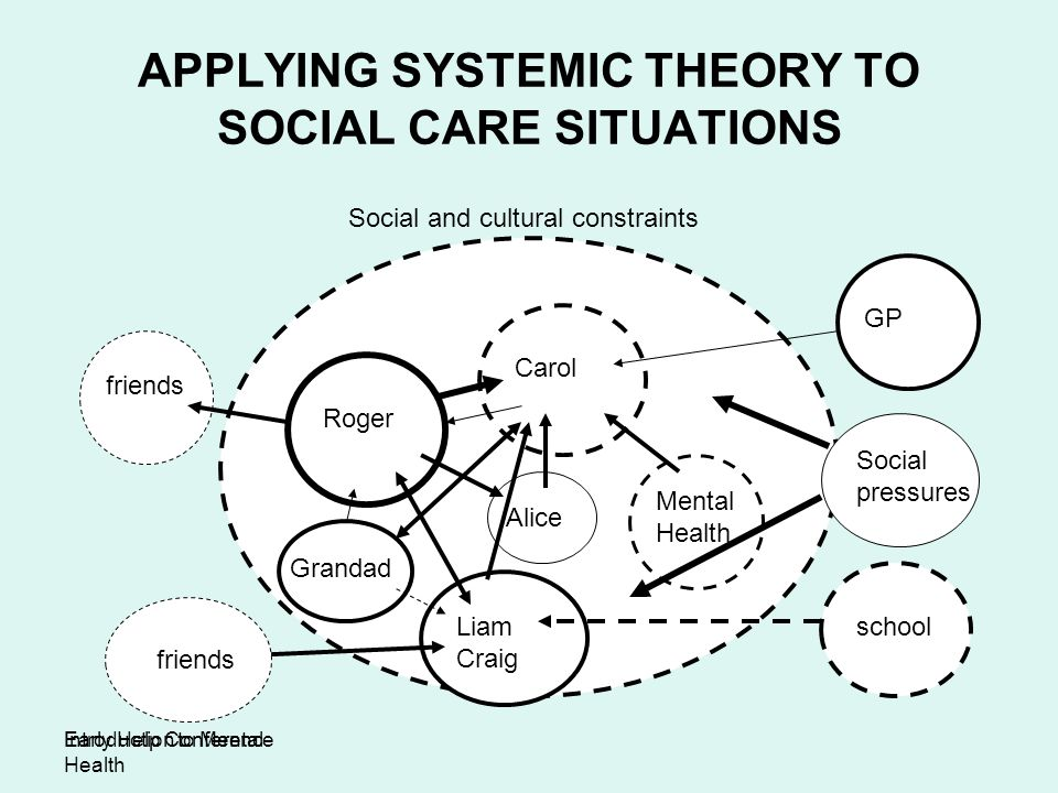 APPLYING SYSTEMIC THEORY TO SOCIAL CARE SITUATIONS