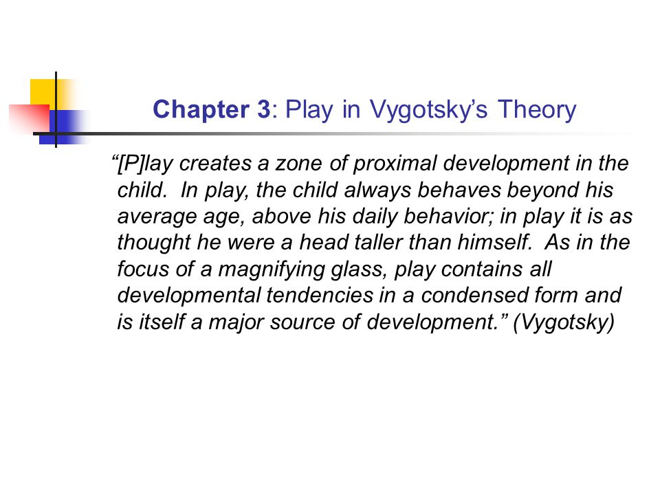 Chapter 3: Play in Vygotsky's Theory