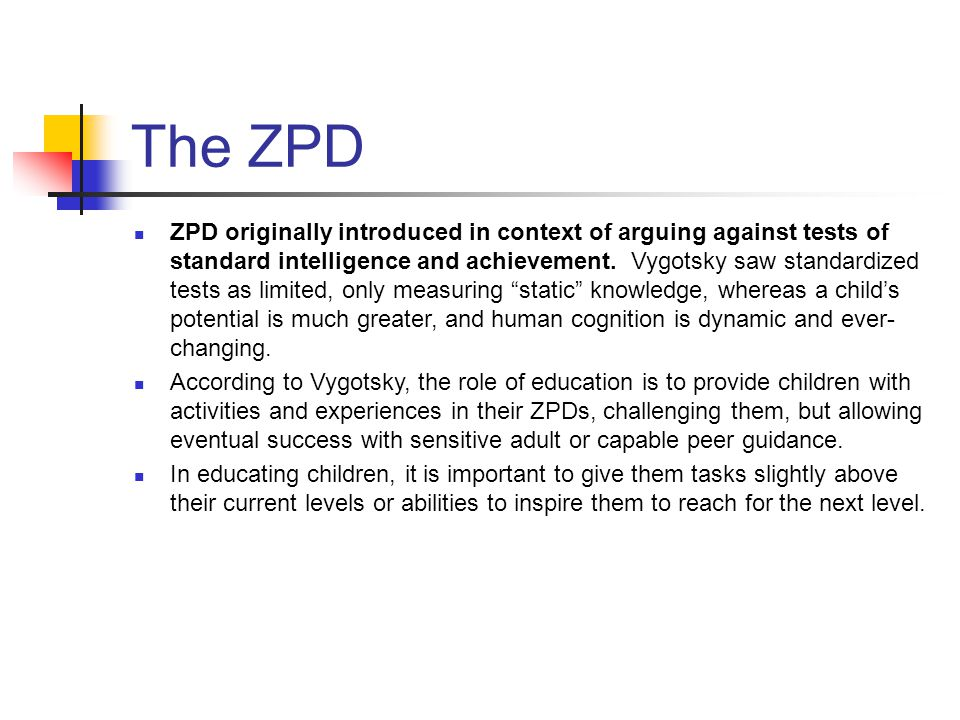 The ZPD