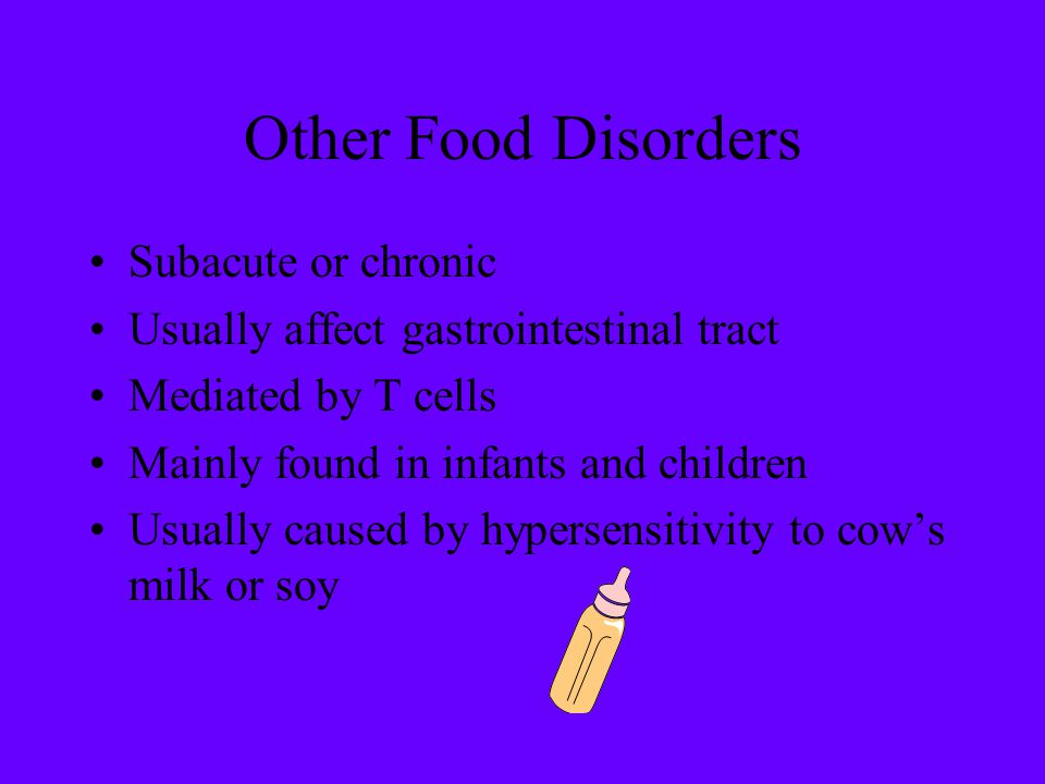 Other Food Disorders Subacute or chronic