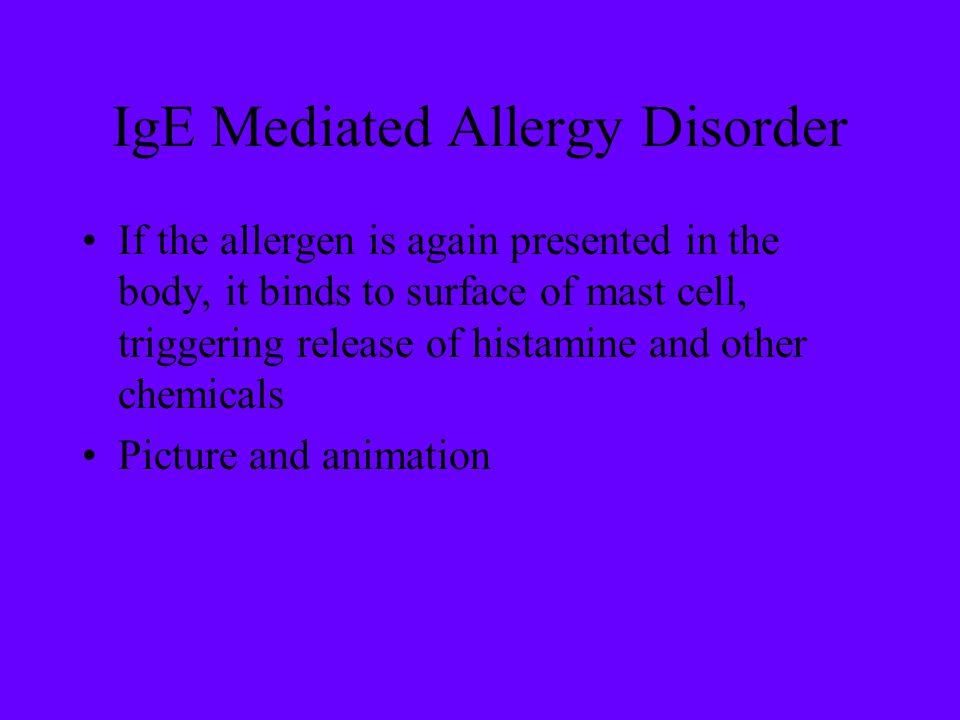 IgE Mediated Allergy Disorder
