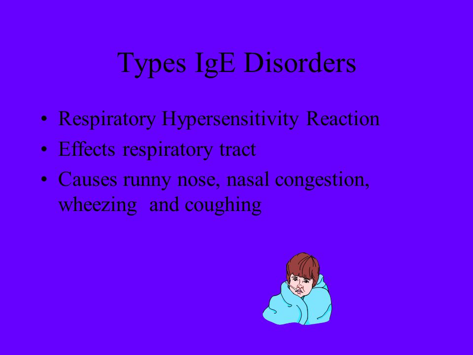 Types IgE Disorders Respiratory Hypersensitivity Reaction