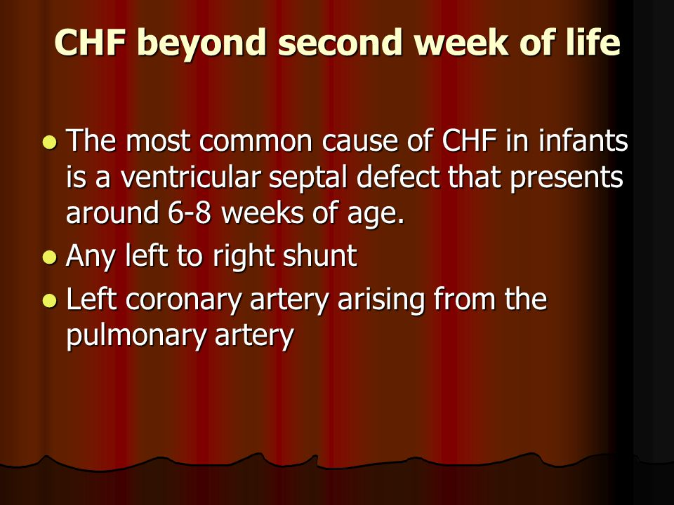CHF beyond second week of life
