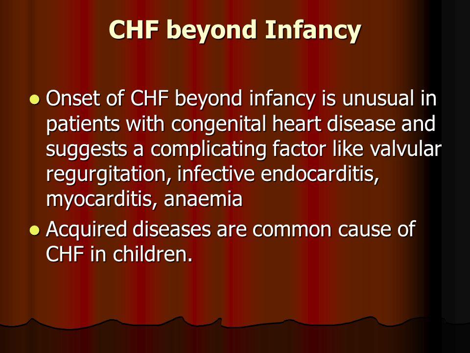 CHF beyond Infancy
