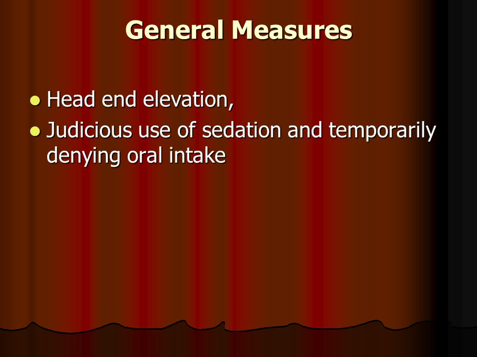 General Measures Head end elevation,