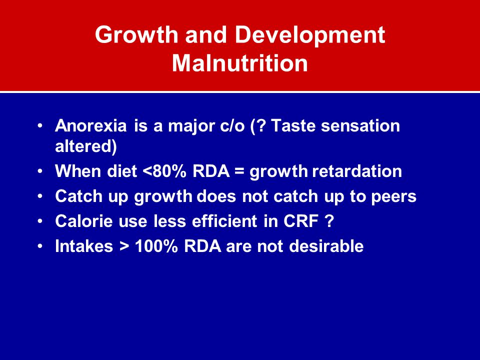 Growth and Development Malnutrition