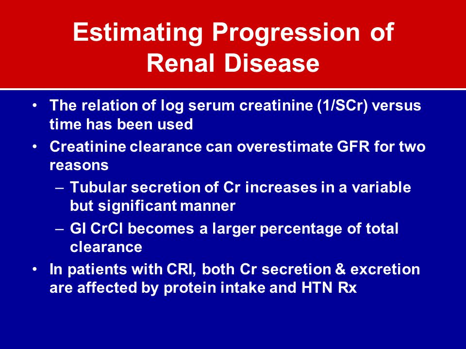 Estimating Progression of Renal Disease