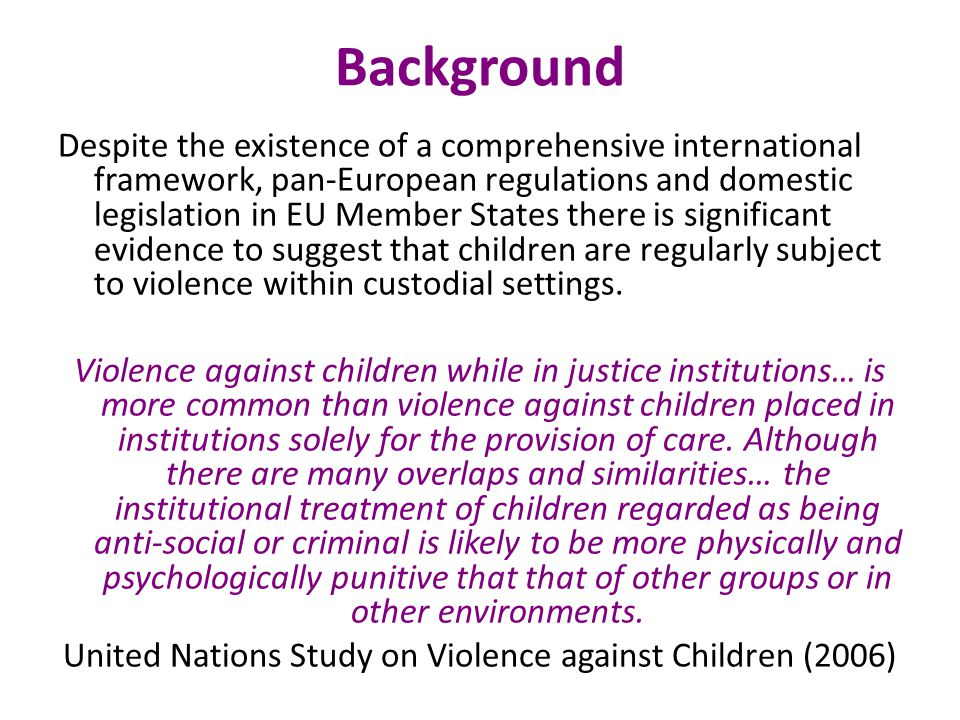 United Nations Study on Violence against Children (2006)