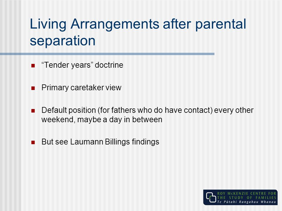 Living Arrangements after parental separation