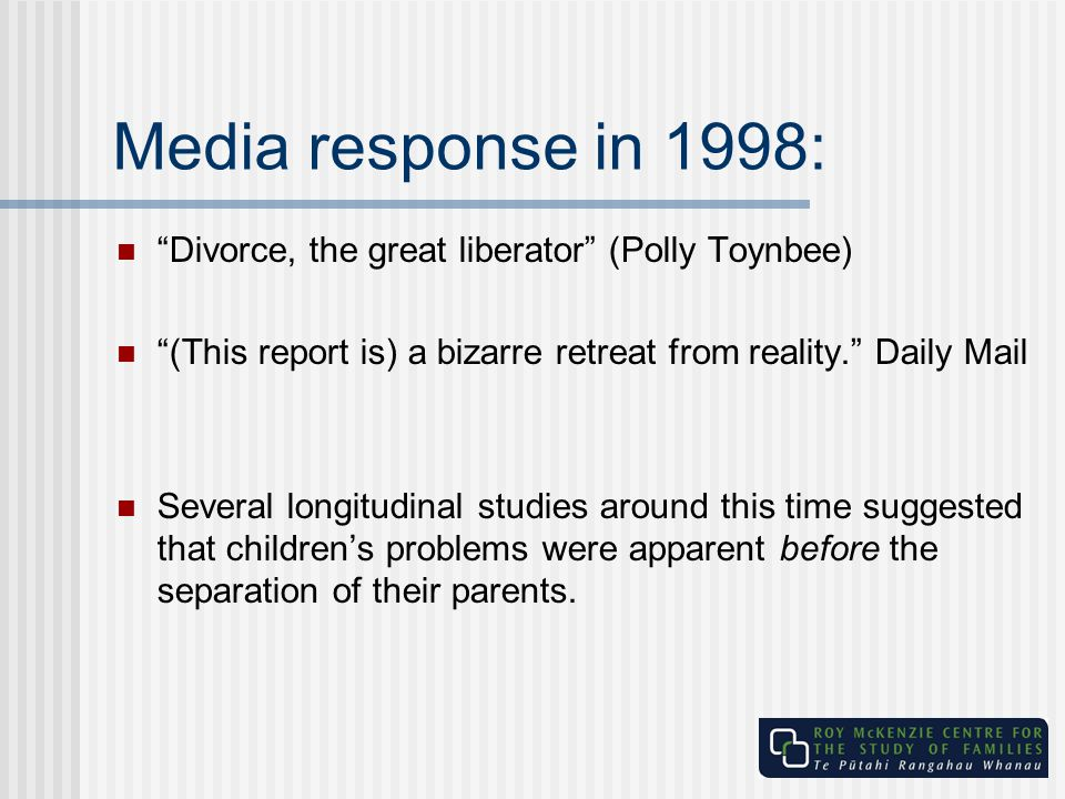 Media response in 1998: Divorce, the great liberator (Polly Toynbee)