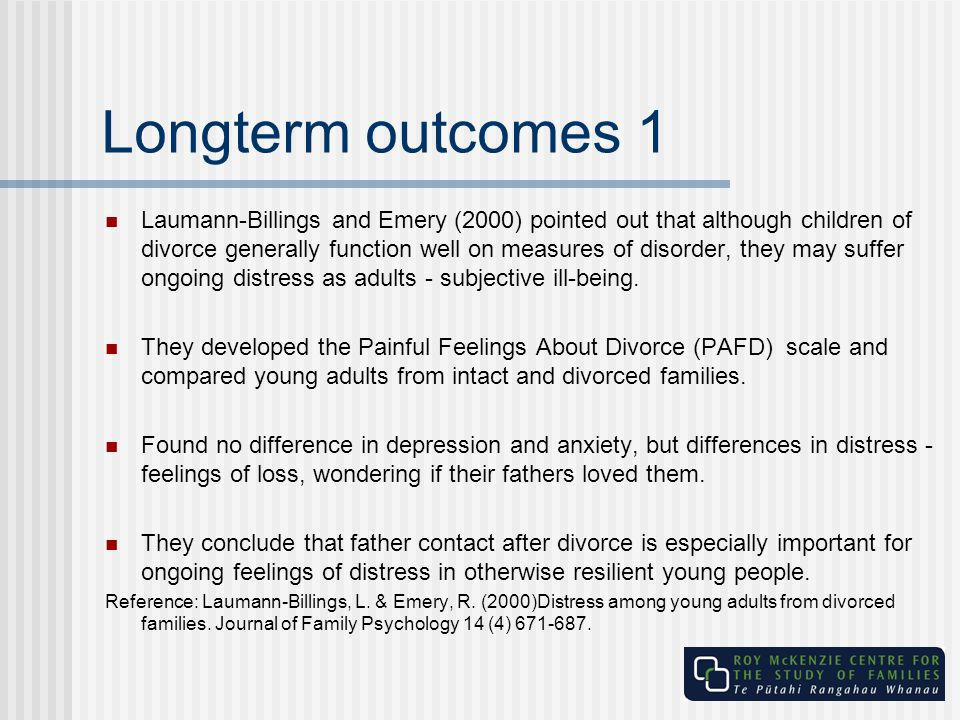 Longterm outcomes 1