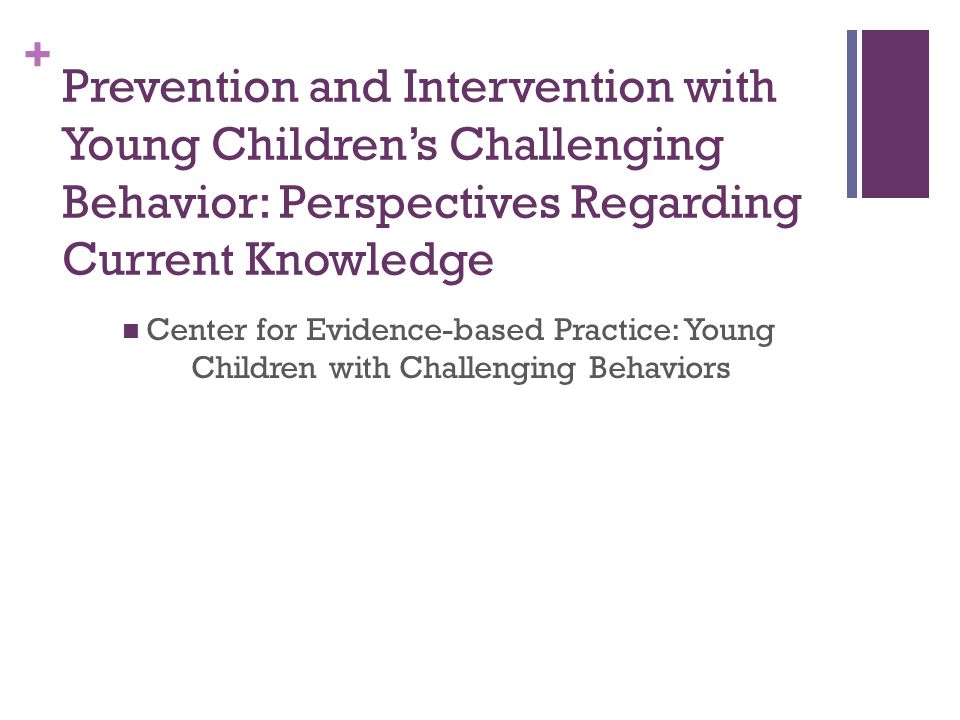 Prevention and Intervention with Young Children's Challenging Behavior: Perspectives Regarding Current Knowledge