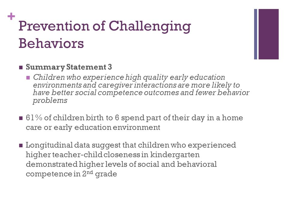 Prevention of Challenging Behaviors