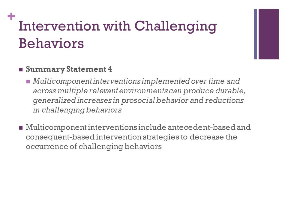 Intervention with Challenging Behaviors
