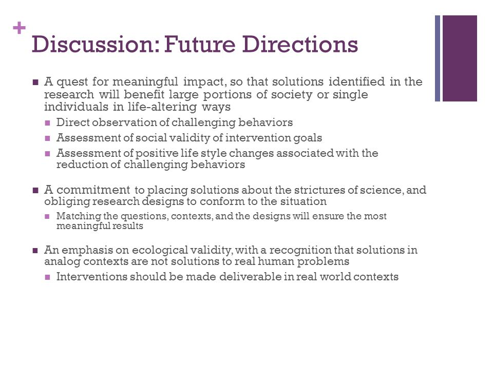 Discussion: Future Directions