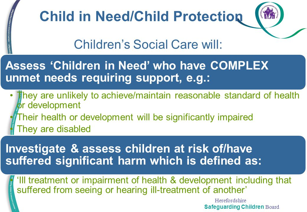 Child in Need/Child Protection