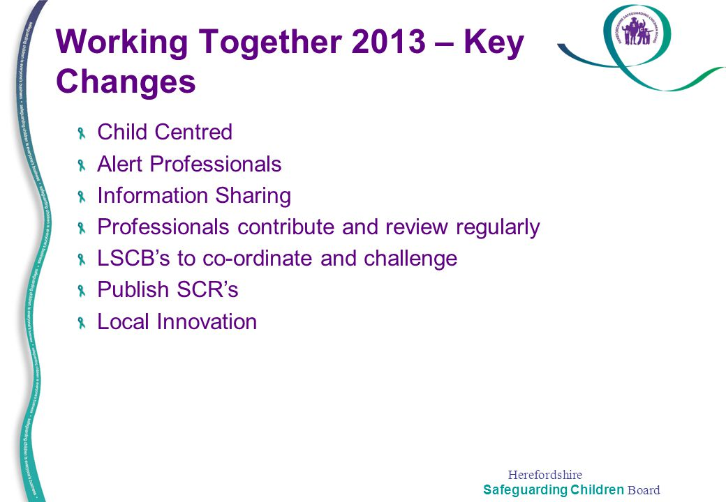 Working Together 2013 – Key Changes
