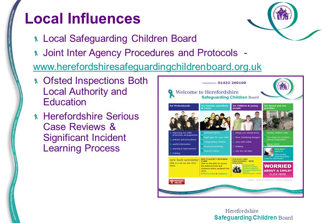 Local Influences Local Safeguarding Children Board