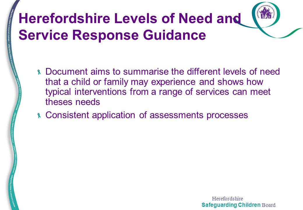 Herefordshire Levels of Need and Service Response Guidance